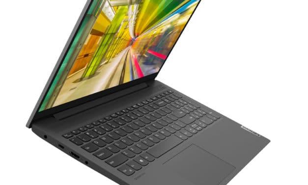 "Lenovo IdeaPad 5 15ITL05 (82FG00CPFR), Ultrabook 15"" polyvalent léger rapide et fin avec SSD 1 To Tiger Lake Iris Xe (1099€)"