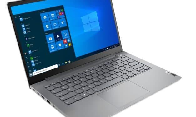 """Lenovo ThinkBook 14 et 15 G3 ACL, PC portables 14"""" et 15""""aluminium AMD Cezanne Ryzen 5000U légers fins et rapides 10h"""