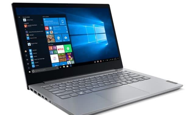 """<span class=""""promo"""">Promo 769€</span> Lenovo ThinkBook 14-IIL (20SL003HFR), Ultrabook 14"""" argent aluminium léger fin et rapide 9h avec Wi-Fi ax et clavier rétro éclairé"""