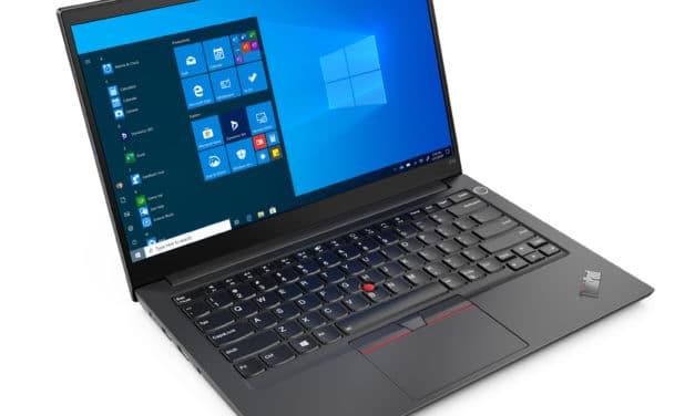 "Lenovo ThinkPad E14 Gen 2 (20TA002CFR), Ultrabook 14"" Pro noir aluminium polyvalent 8h Tiger Lake léger fin rapide TB4 TrackPoint (829€)"