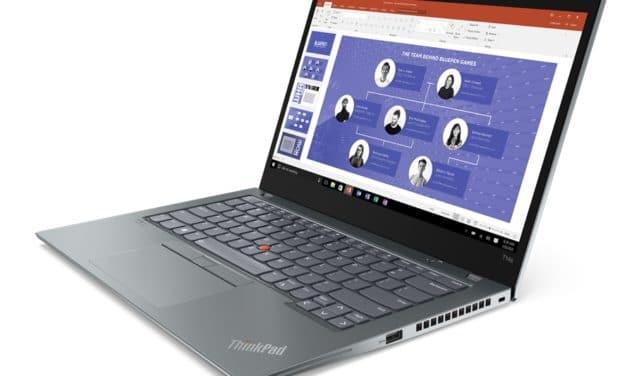 """Lenovo ThinkPad T14s Gen 2, Ultrabook 14"""" 4K Pro noir ou argent Tiger Lake Intel Iris Xe 14h TB4 Wi-Fi ax"""