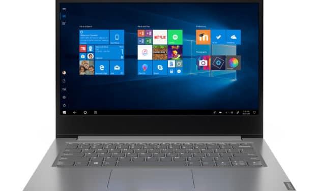 Lenovo V14 ADA (82C6006DFR), PC portable 14 pouces Pro argent pas cher léger fin et rapide (599€)