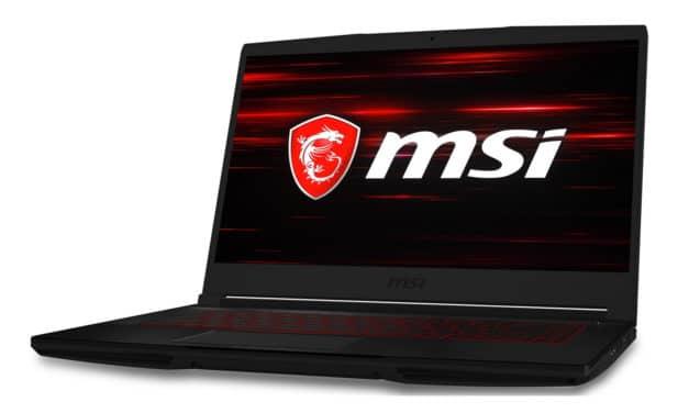 MSI GF63 10SC-005FR, PC gamer 15 pouces léger et rapide pour le jeu avec écran 144Hz (799€)