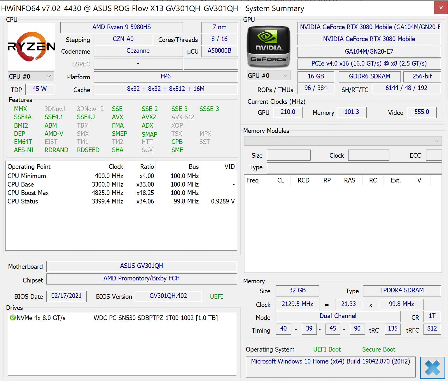 Test Asus ROG Flow X13