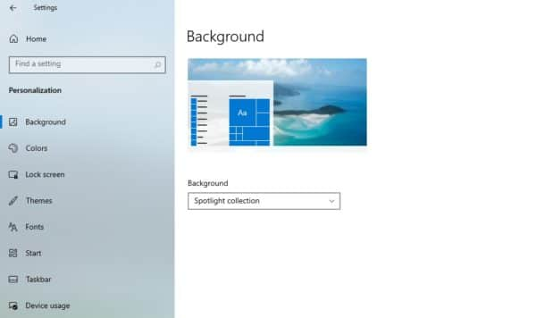 Windows 10 21H2 Sun Valley Windows Spotlight