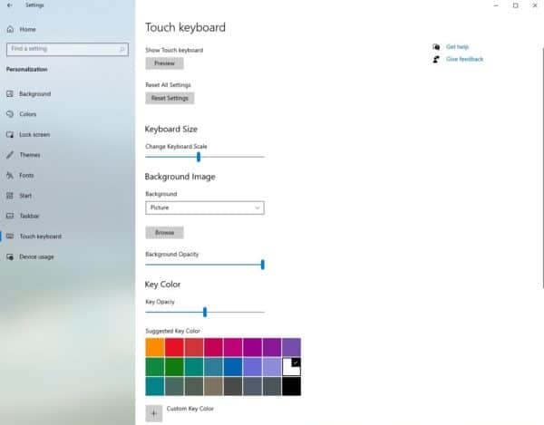 Windows 10 21H2 Sun Valley clavier tactile
