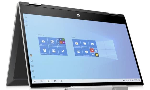 """<span class=""""nouveau"""">Nouveau 664€</span> HP Pavilion x360 14-dw1001nf, ultrabook 14 pouces convertible tablette bureautique rapide"""