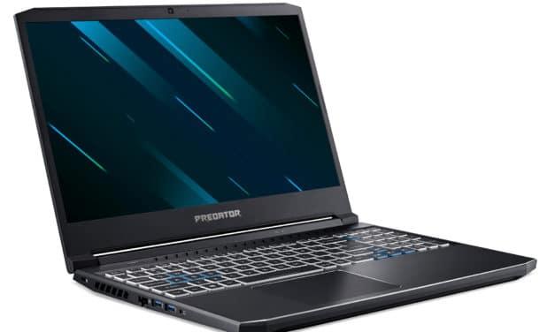 Acer Predator Helios PH315-53-76K7, PC portable gamer 15 pouces rapide pour jeu avancé avec RTX 3060 (1699€)