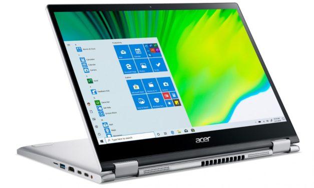 """Acer Spin 3 SP313-51N-71WB, ultrabook convertible en tablette 13"""" productif avec écran Retina et stylet (1099€)"""