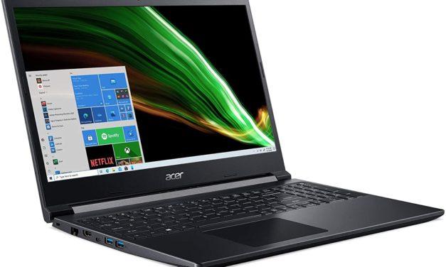 "<span class=""promo"">Promo 957€</span> Acer Aspire 7 A715-42G-R0VB, PC portable polyvalent 15 pouces au design sobre avec GTX 1650"