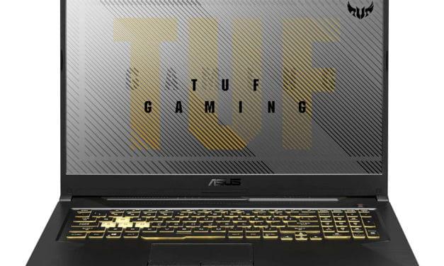 Asus A17 TUF766IU-H7164T, PC gamer 17 pouces polyvalent avec GTX 1660 Ti (1199€)