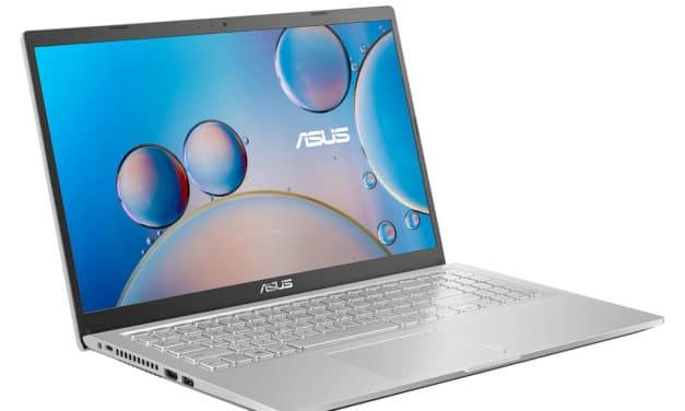 """Asus R515DA-BQ678T, PC portable 15"""" argent polyvalent AMD léger fin rapide avec SSD 512 Go, sacoche et souris (649€)"""