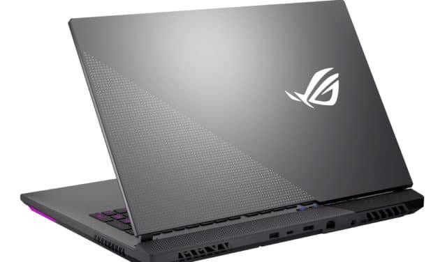 """<span class=""""nouveau"""">Nouveau 1799€</span> Asus ROG Strix G17 G713QM-HX015T, PC portable 17""""144Hz pour jouer et créer avec RTX 3060 et AMD Octo Core Ryzen 7"""