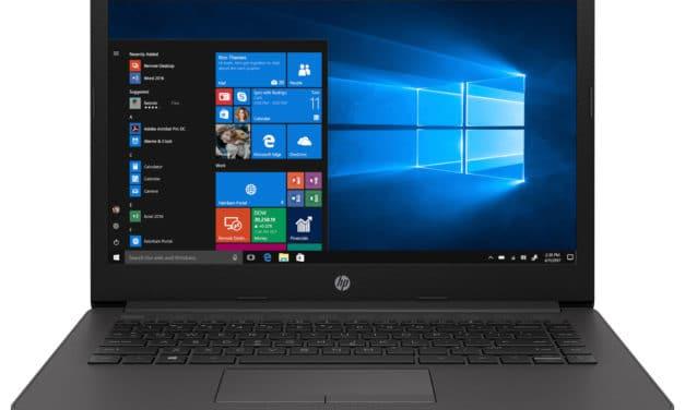 """<span class=""""promo"""">Promo 514€</span> HP 245 G7 (2D8C6EU), PC portable 14"""" Pro noir pas cher rapide léger et fin avec processeur AMD Quad Core et SSD"""