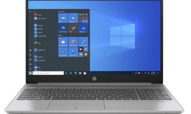 """HP 250 G8 (2W8W6EA), Ultrabook 15"""" argent léger rapide et fin avec SSD 7h (563€)"""