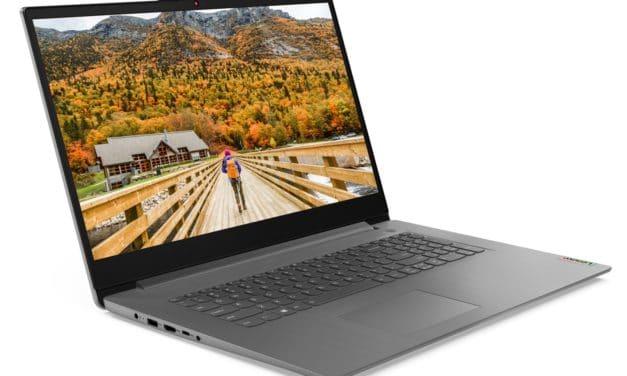 Lenovo IdeaPad 3 17ALC6, PC portable 17 pouces fin et rapide avec Hexa Core (599€)