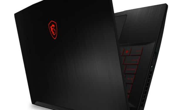 """<span class=""""nouveau"""">Nouveau 899€</span> MSI GF63 10SC-003XFR Thin, Ultrabook 15"""" 144Hz polyvalent gamer créateur noir fin léger GTX 1650 sans Windows 7h"""