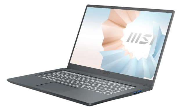 "<span class=""promo"">Promo 639€</span> MSI Modern 15 A10M-635FR, ultrabook 15 pouces compact et rapide avec SSD 1 To"