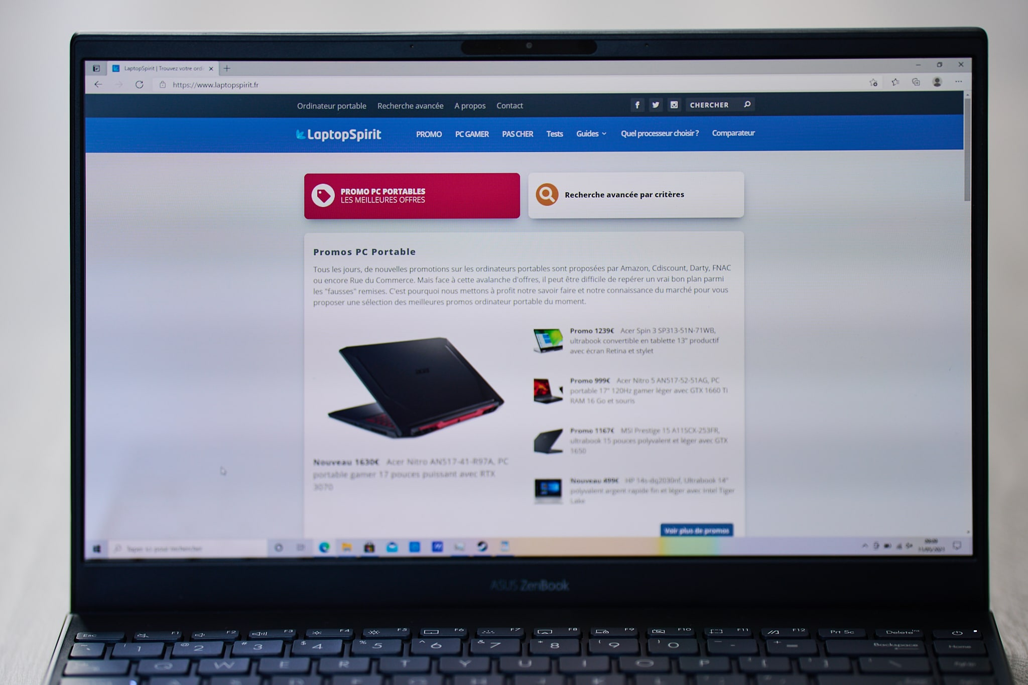 Test Asus ZenBook UM325