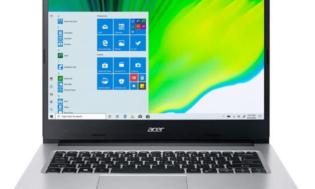 """Acer Aspire 3 A314-22-R1WW, PC portable 15"""" argent pas cher léger rapide et fin paré pour la Haute Définition avec SSD (479€)"""