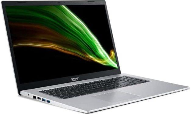 """<span class=""""nouveau"""">Nouveau 629€</span> Acer Aspire 3 A317-53-32Z4, Ultrabook 17"""" polyvalent argent fin avec stockage SSD rapide et Intel Tiger Lake"""