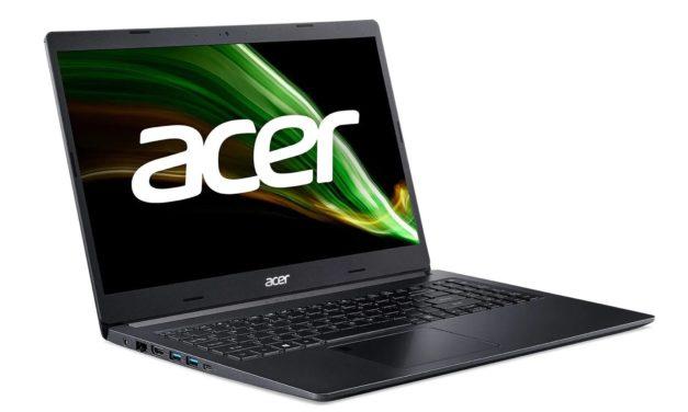 """Acer Aspire 5 A515-45G-R2LW, PC portable 15"""" noir polyvalent AMD Octo Core et Radeon fin rapide et léger (899€)"""