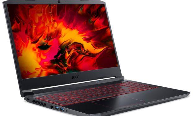 """Acer Nitro 5 AN515-55-51Q4, PC portable 15"""" polyvalent nomade 8h pour créer et jouer avec GTX 1650 Ti (679€)"""