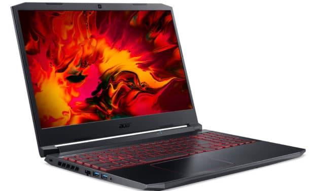 """Acer Nitro 5 AN515-55-52MF, PC portable 15"""" 144Hz polyvalent orienté création et jeu avec GTX 1650 (959€)"""