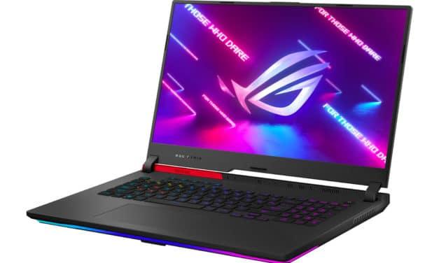 """<span class=""""promo-best"""">Promo 1954€</span> Asus ROG Strix G17 G713QR-HG016T, PC portable 17"""" 300Hz pour jouer et créer avec RTX 3070 et AMD"""