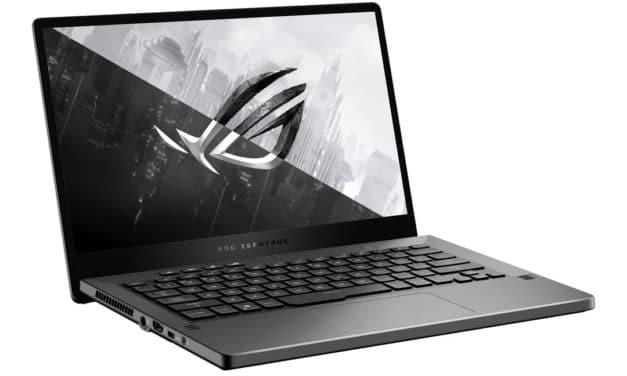 """<span class=""""promo-best"""">Promo 1529€</span> Asus ROG Zephyrus G14 GA401QM-058T, PC portable 14"""" 144Hz fin et léger pour jouer et créer avec RTX 3060 AMD Octo Core"""
