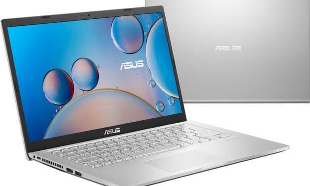 """Asus X415JA-BV473T, Ultrabook 14"""" argent pas cher fin léger et rapide avec SSD 512 Go et USB-C (599€)"""