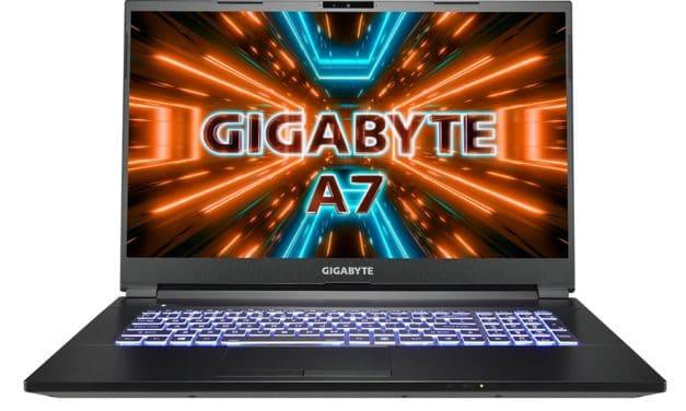 """Gigabyte A7 X1, nouveau PC portable 17"""" gamer avec AMD Ryzen 9 5900HX et NVIDIA GeForce RTX 3070"""