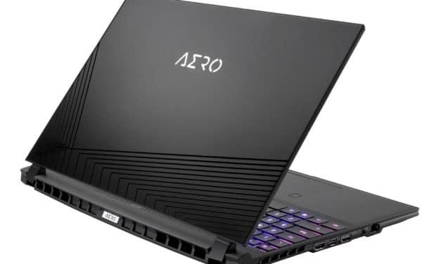 """Gigabyte Aero 15 OLED XD-73FR644SP, Ultrabook 15""""OLED DCI-P3 Pro puissant pour jouer et créer RTX 3070 RAM 32 Go (2699€)"""