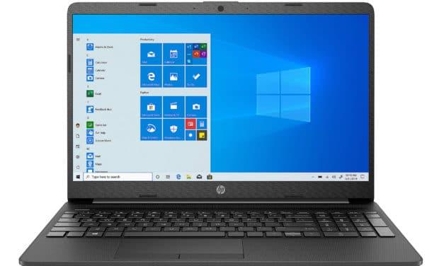 """HP 15-dw1051nf, Ultrabook 15"""" noir pas cher léger rapide et fin avec USB-C et SSD (449€)"""
