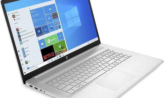 HP 17-cn0000sf, PC portable 17 pouces léger et fin pour la bureautique (469€)
