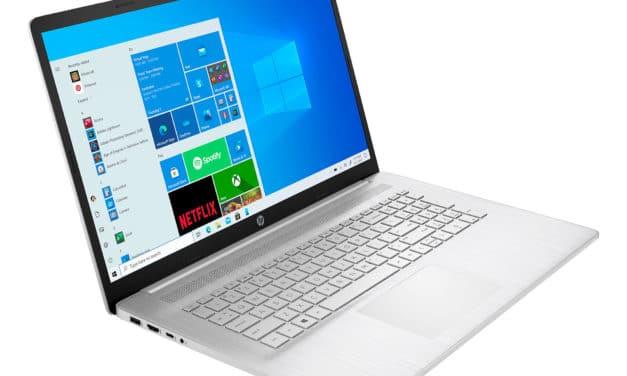 """HP 17-cp0245nf, PC portable 17"""" polyvalent argent fin léger et rapide avec Octo Core AMD et USB-C (749€)"""