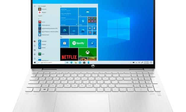 HP Pavilion x360 15-er0002nf, ultrabook 15 pouces convertible en tablette avec Iris Xe (949€)
