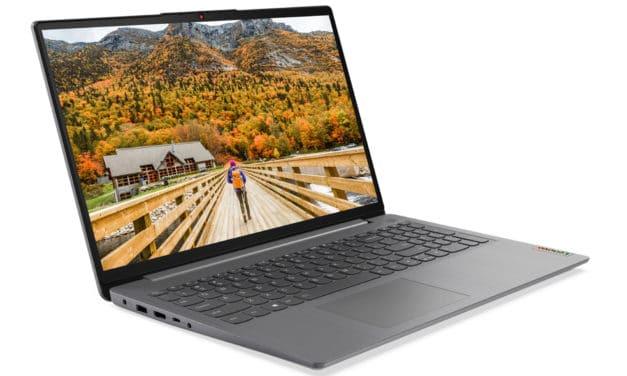"""<span class=""""promo"""">Promo 674€</span> Lenovo IdeaPad 3 15ITL6, ultrabook 15 pouces productif avec Iris Xe"""
