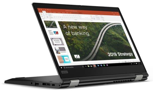 """Lenovo ThinkPad L13 (Yoga) Gen 2, ultraportables 13"""" (2-en-1 Tablette) AMD Ryzen 5000 nomade 10h fin et léger en noir ou argent"""