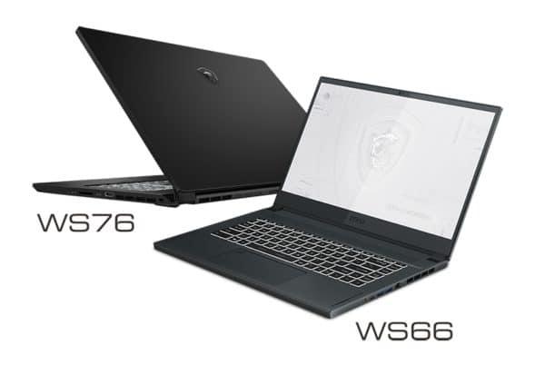 MSI WS66 et MSI WS76