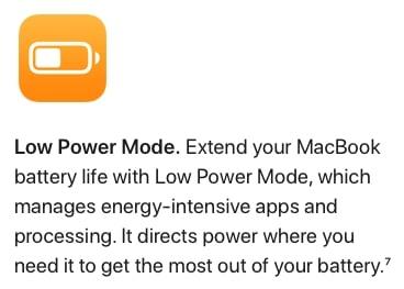 WWDC 2021 Apple macOS Monterey Low Power Mode