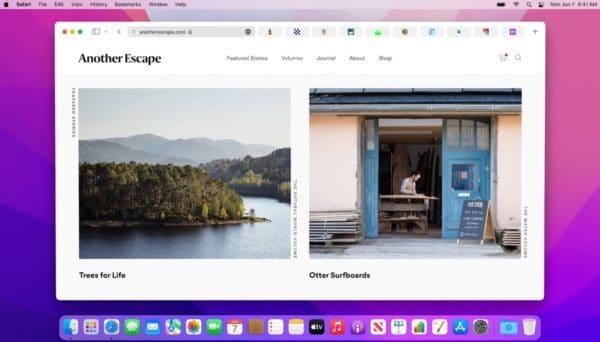 WWDC 2021 Apple macOS Monterey Safari