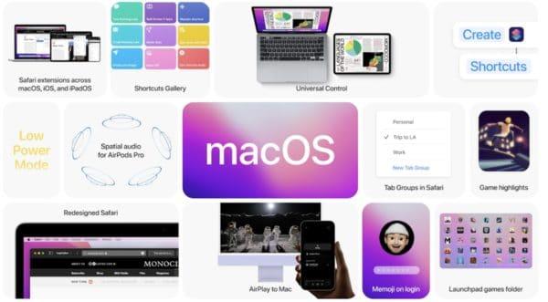 WWDC 2021 Apple macOS Monterey nouveautes