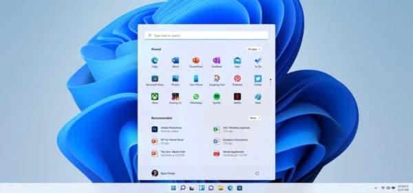 Windows 11 menu démarrer