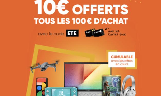 """<span class=""""tagtitre"""">Bon plan FNAC - </span>Summer Fever et 10€ tous les 100€ d'achat"""
