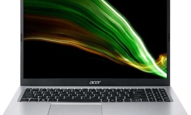 """Acer Aspire 3 A315-58-52W4, Ultrabook 15"""" argent polyvalent léger rapide et fin avec Tiger Lake et Iris Xe (692€)"""