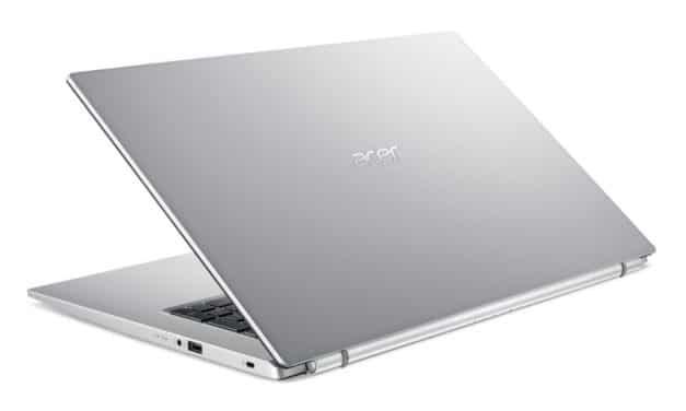 """<span class=""""promo"""">Promo 379€</span> Acer Aspire A317-33-C40P, PC portable 17 pouces pas cher, fin et rapide pour la bureautique"""