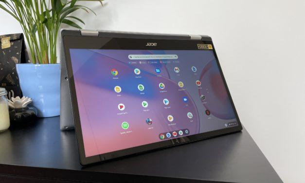 """<span class=""""tagtitre"""">Test Acer Chromebook Spin 513 - </span>un 2-en-1 qui a du style"""