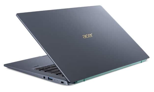 "Acer Swift 3X SF314-510G-502G, Ultrabook 14"" bleu polyvalent Pro fin léger nomade 11h avec Tiger Lake Iris Max TB4 (1299€)"