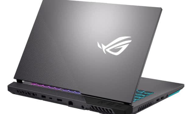Asus ROG Strix G15 G513IH-HN036T, PC portable 15 pouces polyvalent et jeu avec GTX 1650 (999€)